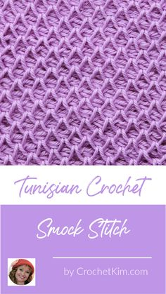 Tunisian Smock Stitch Crochet Stitch Pattern - Free Crochet Patterns from CrochetKim Tunisian Crochet Patterns, Basic Crochet Stitches, Knitting Stitches, Knitting Patterns, Tunisian Crochet Blanket, Smocking Patterns, Stitch Crochet, Free Crochet, Knit Crochet