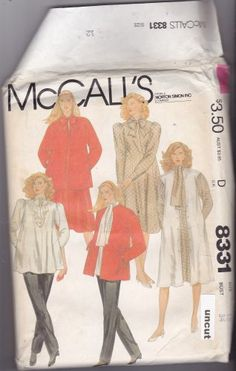 McCall's 8331 Uncut 12 Maternity Career Separates 1980s like Murphy Brown