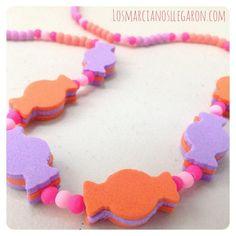 Divertido collar para niñas con forma de caramelos