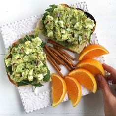 Print Avocado Egg Salad Prep Time 8 minutes Cook Time 15 minutes Total Time 23 minutes Servings 1 -2 Author Rachael DeVaux Ingredients 2 hard boiled eggs 1/2 large ripe avocado 1 tbsp Sir Kensington's Spicy Brown Mustard or any brown mustard 1 dill pickle 1/4 cup chopped green onion 1/2 tsp red pepper flakes ... Read More about  Avocado Egg Salad