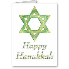Star of David Happy Hanukkah Greeting Card 17