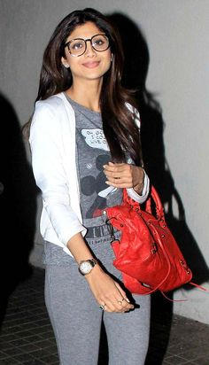 Shilpa Shetty rocked the spectacled look on a movie night out.