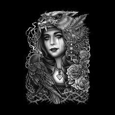 Winya No. 93  #chicano #neotraditional #tattoo #blackandwhite #tattooart #surreal #witch #magic #occult#culture #artline #linework #deathmetal #death #baroque #victorian #punk #gothic #popculture #dark #sacred #fantasy #diamond #mystical #creepy #fairy #angel #crow #rock #myth #queen #roses #animal #tshirt #tee #artist #art #artwork #illustration #digitalart #digital #onlineshop #sale #prints #monster #popculture  #popsurrealism #postapocalyptic