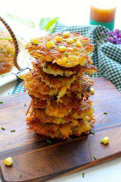 Crispy Corn Potato Cake #recipe