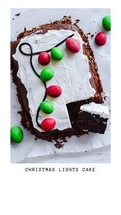 Christmas lights cake - Anne Travel Foodie #christmas #cake