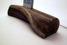 Manzanita Wood iPhone Docking Station