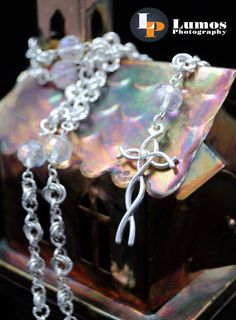 Swarovski Crystal and Silver Chainmaille by GutsyGirlJewelry