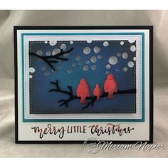 Serendipity Stamps Snow Birds Branch Die Set plus Happy Holidays Cling Stamp Set