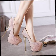 42.75$  Buy now - http://ali88i.worldwells.pw/go.php?t=32609641437 - 16CM high with fine with waterproof Asakuchi shoes Korea princess nightclub sexy women hate day high diamond wedding shoes