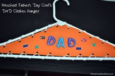 Father's Day Coat Hanger Craft