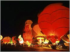 Albuquerque Hot Air Balloon Festival at Night....but it will be off the bucket list soon!!!