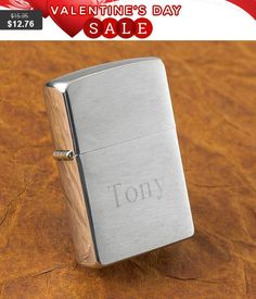 Personalized lighters brushed chrome monogrammed customized monogram engraved custom lighter zippo pipe cigarette cigar