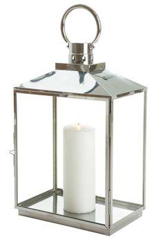 Lykt stål/sølv avlang. A-MØBLER