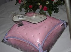 Cinderella quince cake with slipper