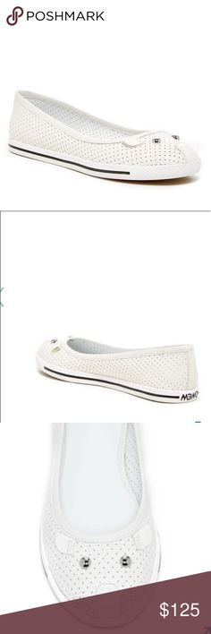 • Marc Jacobs • White Ballet Flats Sneakers Mouse - Marc by Marc Jacobs - Mouse Flats - Ballet Flats Sneakers - White and Black - Size 6 - New without Box *Actual pictures uploading soon Marc Jacobs Shoes Flats & Loafers