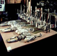 Models from Industrial Light and Magic in 1976. I would sell my soul for one of these....twice.