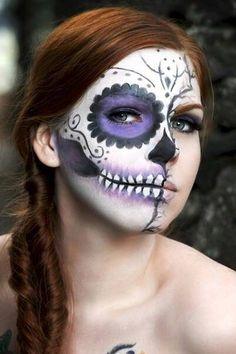 Day of the dead/ sugar skull inspired makeup by BreezyFrost.deviantart.com on @deviantART