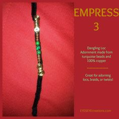 EMPRESS 3 Dangling Loc Adornment by EYESEYEcreations on Etsy, $11.00 Natural Hairstyles, Locs, Natural Hair Hairstyles, Natural Hair Care, Natural Hair Art, Locomotive, Sisterlocks, Natural Styles, Crochet Braids