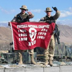 OU National Football Champion with the troops!