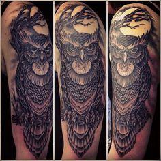 Owl half sleeve - By Mark Lonsdale, Sydney Australia - Imgur