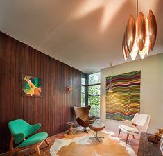 australian mid-century modern Russel Jack House in Sydney - studio Retro Interior Design, Mid-century Interior, Australian Architecture, Modern Architecture, Mid Century House, Mid Century Modern Design, Modern Furniture, Modern Chairs, Futuristic Furniture