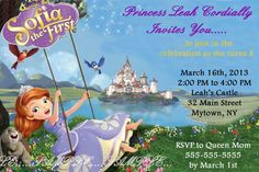 Princess Sofia Birthday Party Invitations / Sofia the First by Scrap2UDrop on Etsy, $4.75