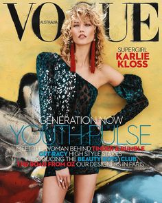 On sale today: @karliekloss covers the April issue of Vogue Australia wearing @ysl by #AnthonyVaccarello. Photographed by Benny Horne styled by @christinecentenera and interviewed by @zara_wong.  via VOGUE AUSTRALIA MAGAZINE OFFICIAL INSTAGRAM - Fashion Campaigns  Haute Couture  Advertising  Editorial Photography  Magazine Cover Designs  Supermodels  Runway Models