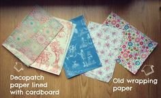 Wallpaper Crafts, Fancy Envelopes, Party Stuff, Recycling, Scrap, France, Homemade, Trends, Ideas