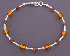 Genuine Amber Bracelet/anklet Child-adult Knotted Beads Sizes 13-25 Cm Earrings Bracelets Jewelry & Watches
