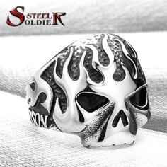 Steel soldier 2015 Fashion Ring Stainless Steel Rings For Man Fire Skull Ring Punk Jewelry BR8 064-in Rings from Jewelry & Accessories on Aliexpress.com | Alibaba Group