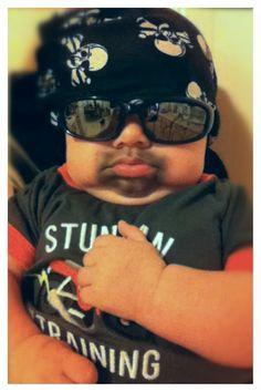 Happy Halloween from Jackson the Biker Baby!
