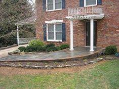 Stone Entry/Walkway Ramp to front door Handicap Accessible Home, Handicap Ramps, Outdoor Walkway, Front Walkway, Brick Walkway, Outdoor Steps, Front Deck, Front Entry, Front Doors