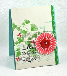 Very pretty card.  Love the collage technique.  by Dawn Mcvey