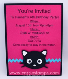 chococat party | ... situation and need to make a chococat invitation or chococat head