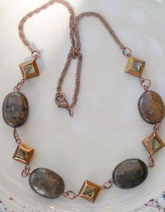 Bold Bronzite Antique Fashion Copper Chain by HeartStringsJewelry, $45.00