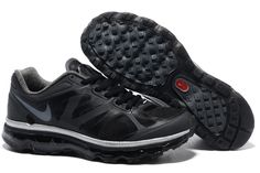 Nike Air Max 2012 Black Metallic Cool Grey Men's Shoes - Click Image to Close