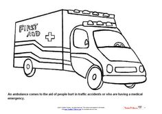 kid 39 s first aid on pinterest ambulance coloring pages