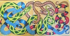 Snakes done! Finally #wildsavannah #wildsavannahcoloringbook #milliemarotta #fabercastell #polychromos #prismacolor #coloringbook #coloringforadults #coloriagepouradulte #coloriageantistress