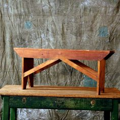 Rustic Wood Bench // Old Wood Bench. $436.00, via Etsy.