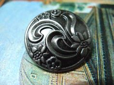 Ribbon Art Flower Metal Buttons , Nickel Silver Color , Shank , 0.71 inch , 10 pcs by Lyanwood, $5.00