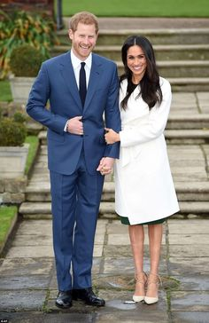 Harry and Meghan looked over the moon and Harry said he was 'thrilled' and his fiancee said she was 'so happy'