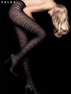 Diagonal pattern tights by #Falke. Comfy and perfect with black shorts and boots. #leggings