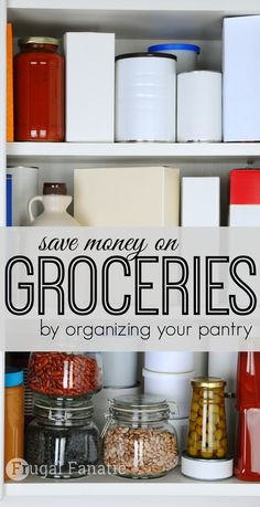 Did you know that you can save money on food just by organizing your fridge and pantry? Get organized to help prevent wasting food by letting it expire. By having an organized kitchen you can save a ton of money on food each month.