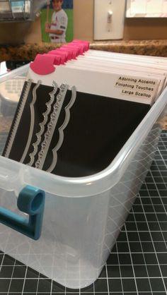 Stampin Up framelit storage