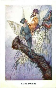 Hilda T. Miller. Fairy lovers. 1926. Postcard.