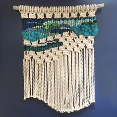 """This was a custom order macrame for a client who wanted a """"coastal"""" feel."""