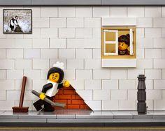 Increíble arte callejero LEGO por Bricksy