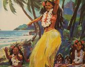 Tahitian Dancer painting.. :)