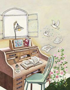 Dream space kim su yeon okunacak kitaplar, sanat köşesi, art journal pages, Album Jeunesse, Reading Art, Art Journal Pages, Whimsical Art, Cute Illustration, Aesthetic Art, Pretty Pictures, Cute Wallpapers, Cute Art