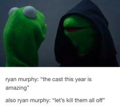 This insight into Ryan Murphy's mind.